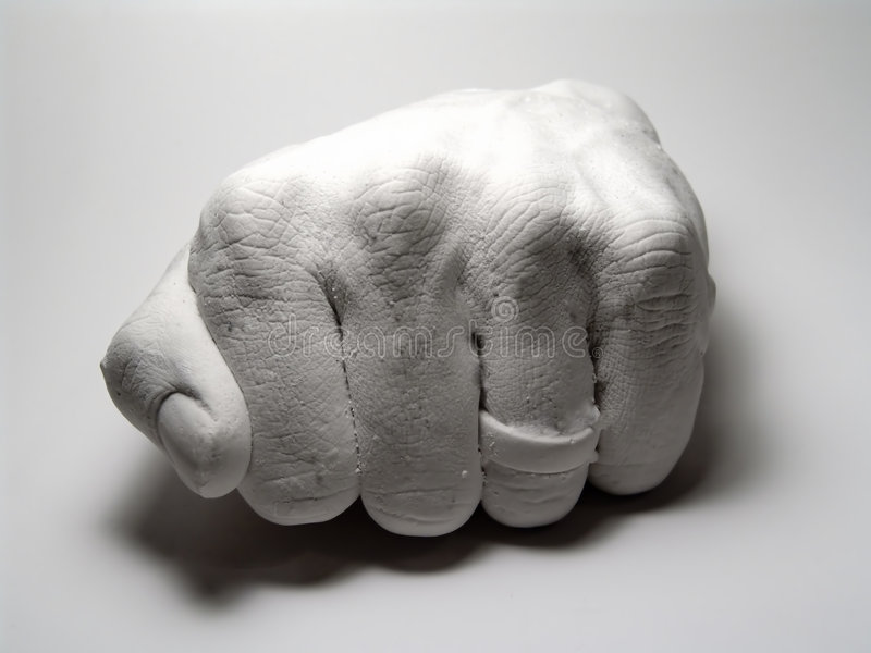 Download Plaster Fist stock photo. Image of cast, fist, ring, fingers - 7038