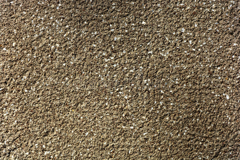 Plaster with granite chippings. stock photo