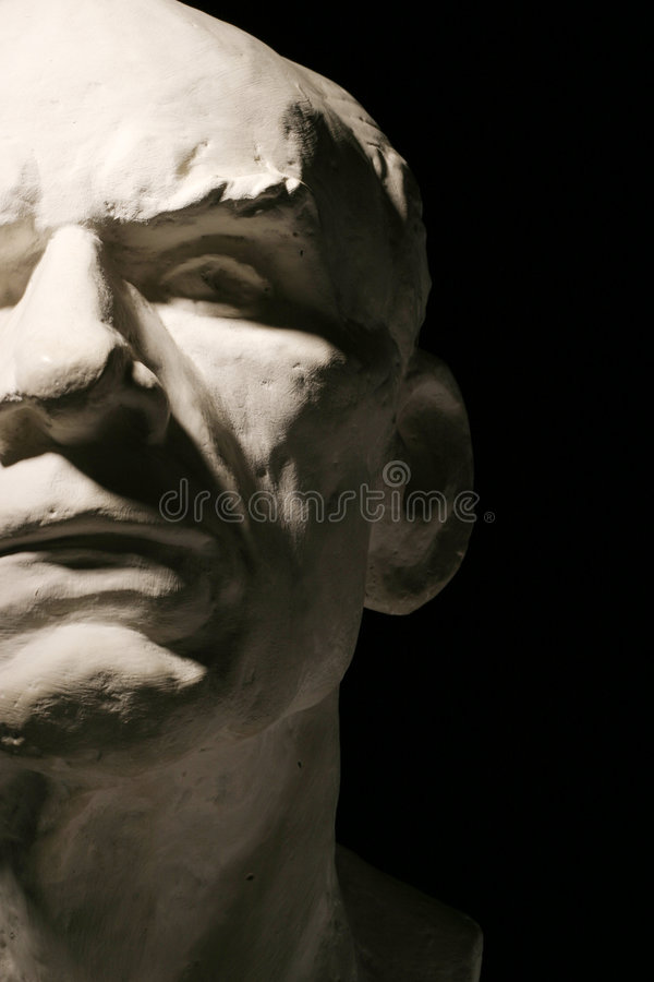 Plaster man's head stock photography