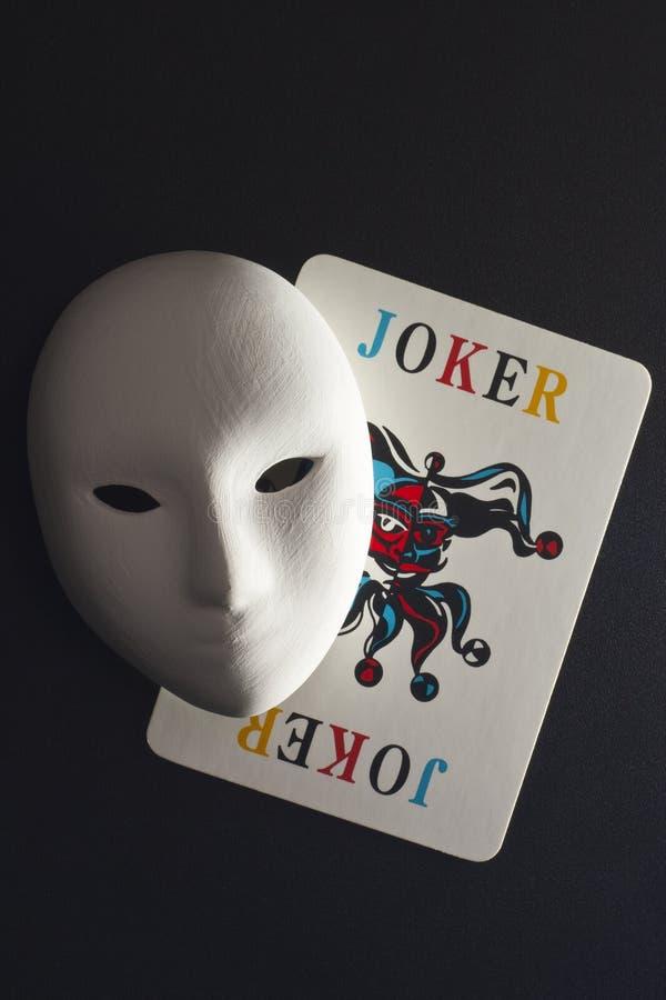 Plaster Mask And Joker Stock Photos