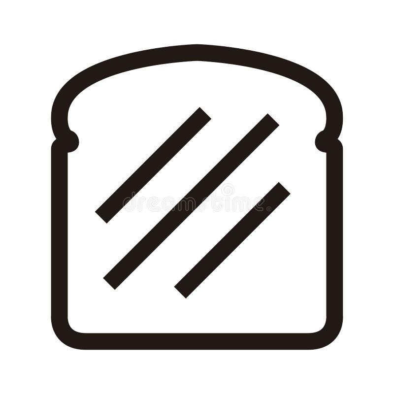 Plasterek chleb ikona royalty ilustracja