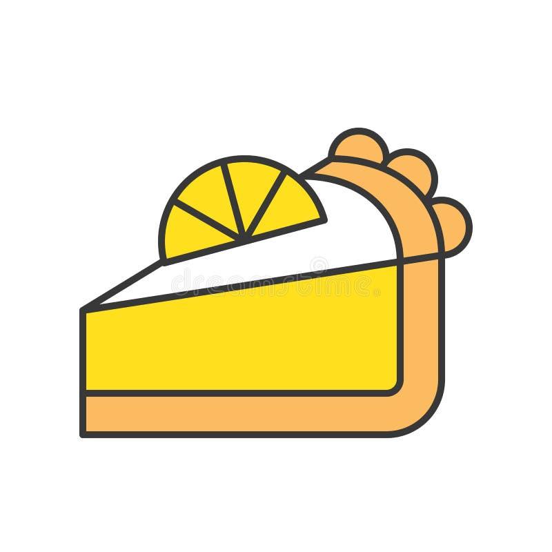 Plasterek cytryna kulebiak cukierki i ciasto set, wypełniał kontur ikonę royalty ilustracja
