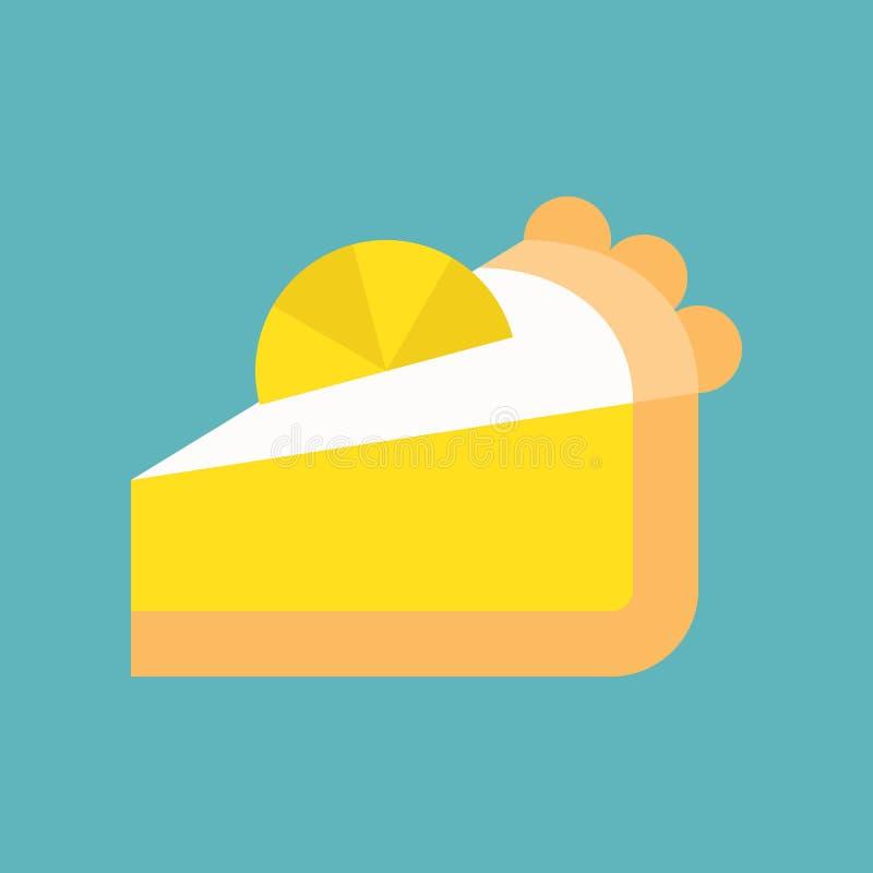 Plasterek cytryny tarta, cytryna kulebiak, cukierki lub ciasto set, mieszkanie de royalty ilustracja