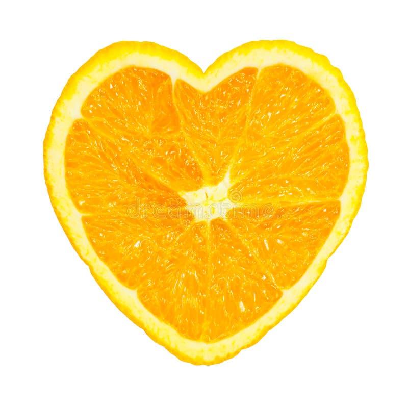 Plasterek kształtujący świeży pomarańczowy serce zdjęcie stock