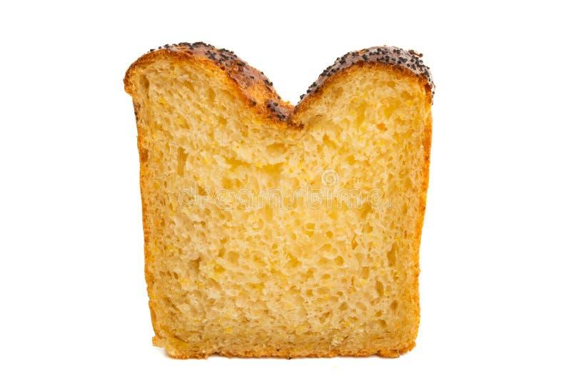 plasterek odizolowywający słodki chleb fotografia stock