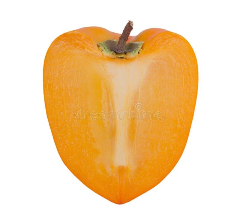 Plasterek persimmon na białym tle zdjęcia stock