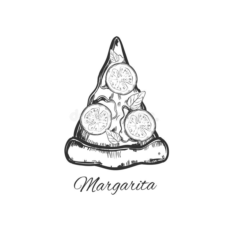 Plasterek pizza royalty ilustracja