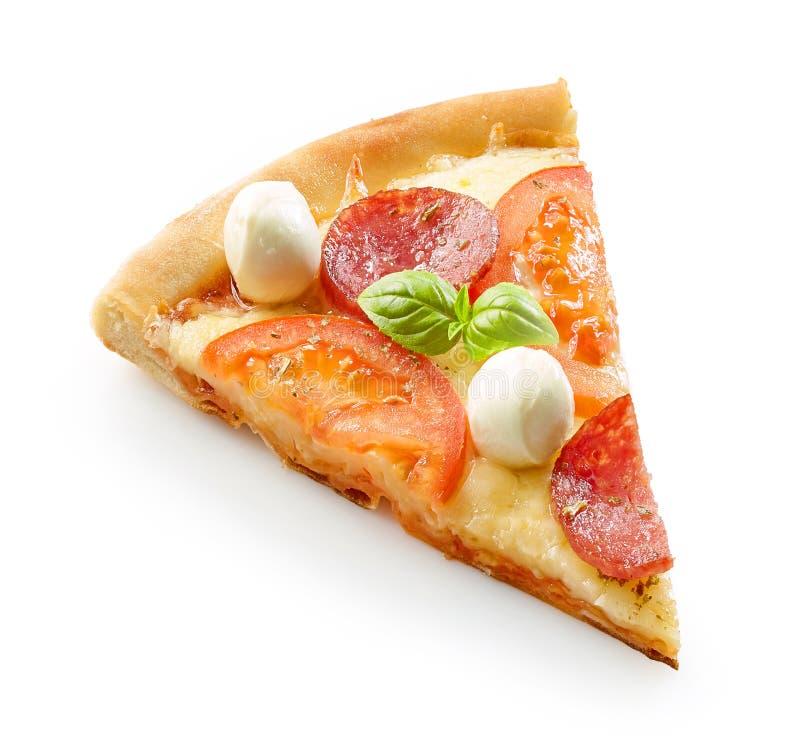 Plasterek pizza fotografia stock