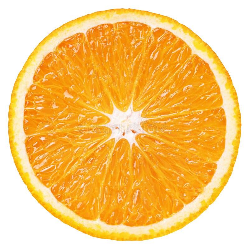 Plasterek pomarańczowa cytrus owoc odizolowywająca na bielu zdjęcie royalty free