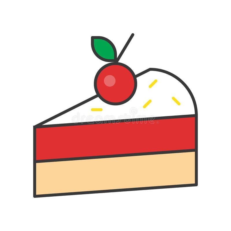 Plasterek tort cukierki i ciasto set, wypełniał kontur ikonę ilustracja wektor