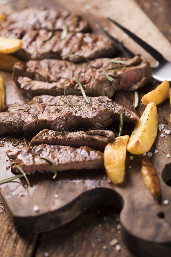 plasterek wołowina stek zdjęcia stock