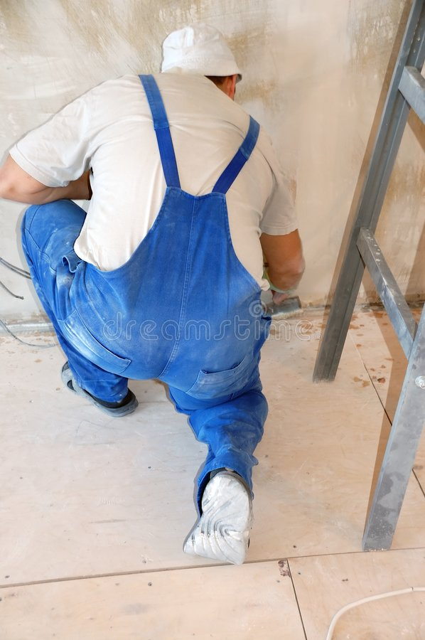Plasterer Royalty Free Stock Images