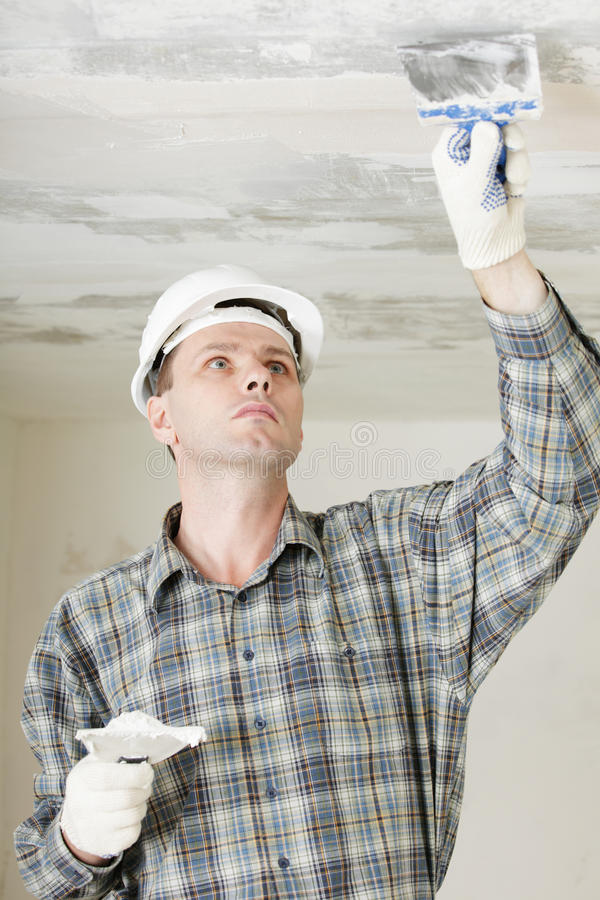 Plastering stock photography