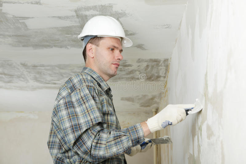 Plastering royalty free stock images