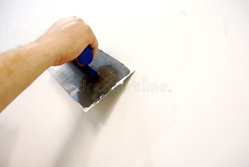 Plastering tool stock photo