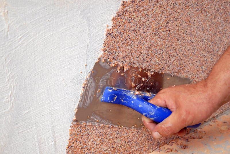 Plastering tool royalty free stock photo