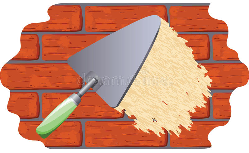 Plastering the wall royalty free stock images