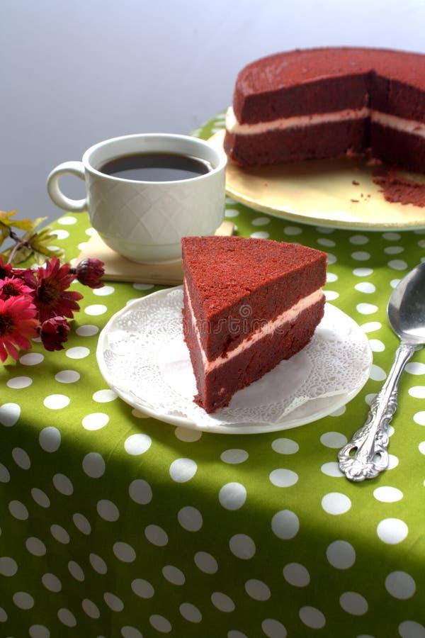 Plasterka aksamita Czerwony tort zdjęcia royalty free