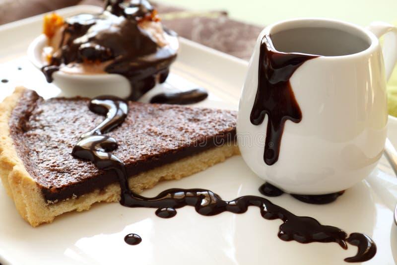 plasterka czekoladowy tarta zdjęcie stock