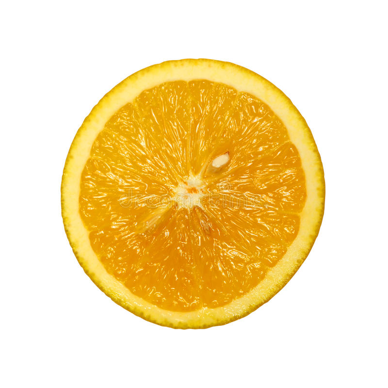 plasterka odosobniony pomarańczowy biel obraz royalty free