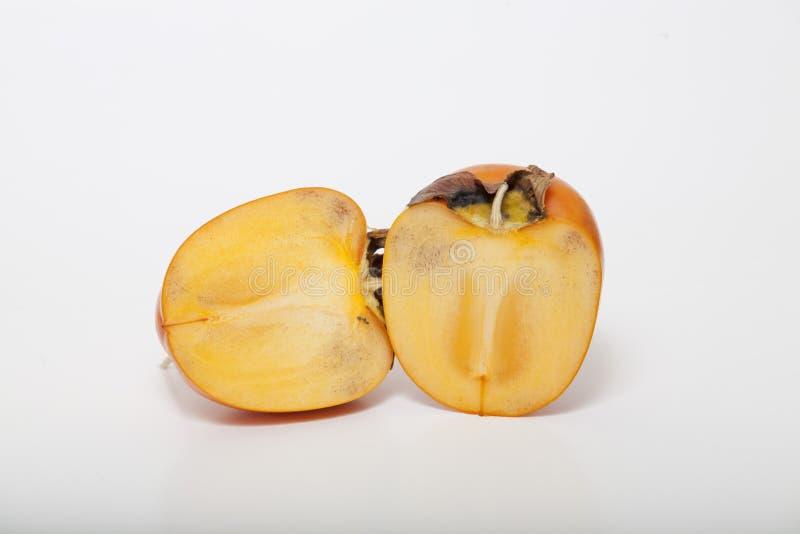 Plasterka persimmon na białym tle zdjęcie royalty free