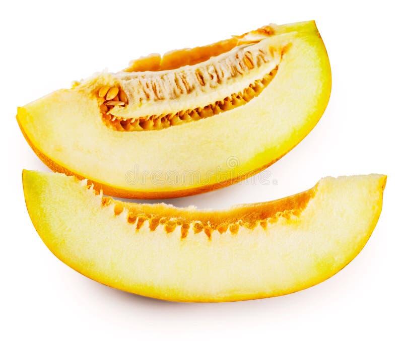 Plasterki dojrzały słodki melon fotografia royalty free