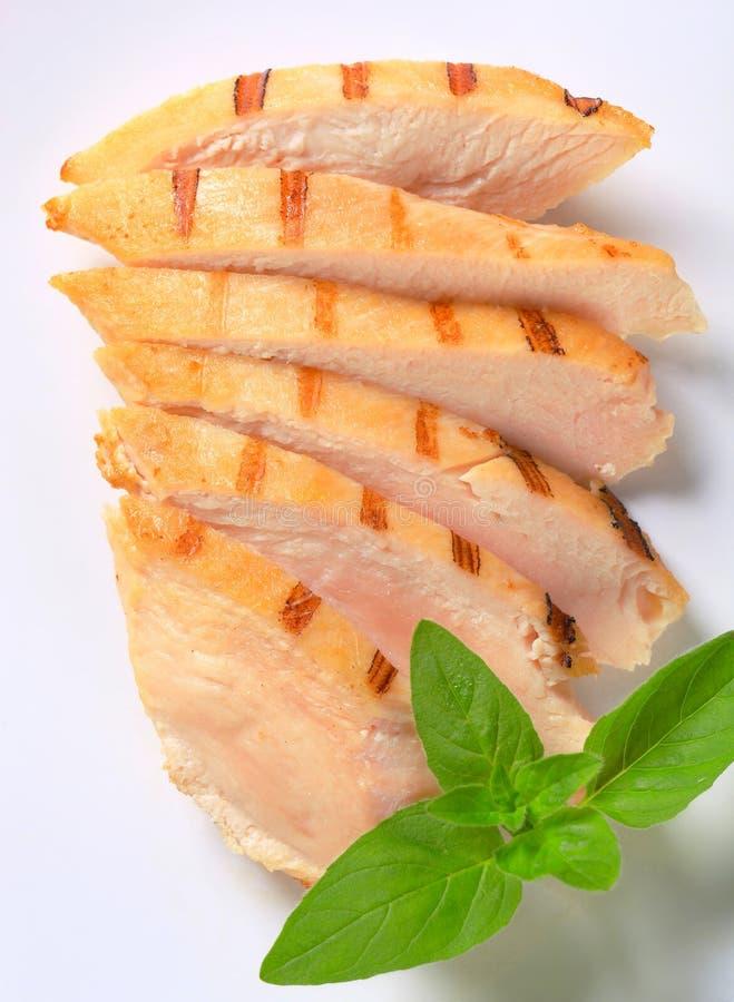 Plasterki kurczak piec na grillu pierś zdjęcie royalty free