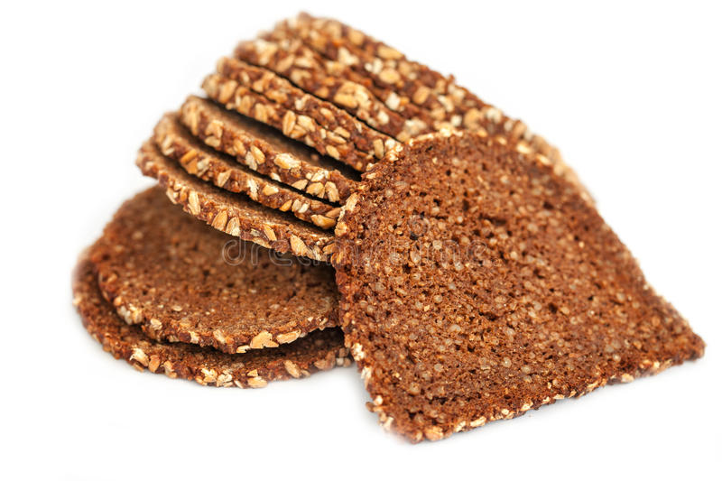 Plasterki wholewheat chleb obraz stock