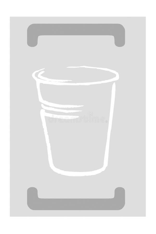 plastic återanvändning stock illustrationer