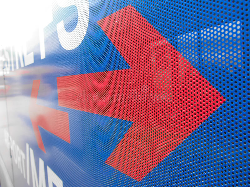 Plastic adhesive layer for advertising over glasses on bus for p. Ublic transport royalty free stock images