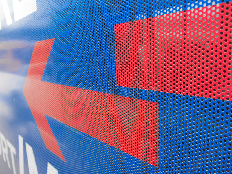 Plastic adhesive layer for advertising over glasses on bus for p. Ublic transport stock images