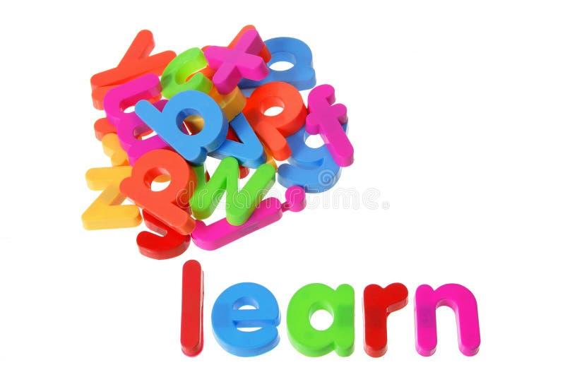 Plastic Alphabets stock photo