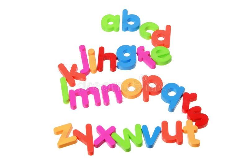Plastic Alphabets stock image