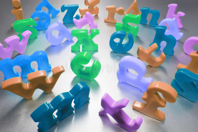 Plastic Alphabets royalty free stock images