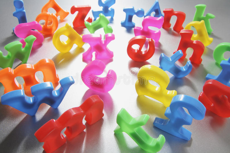 Plastic Alphabets royalty free stock photos