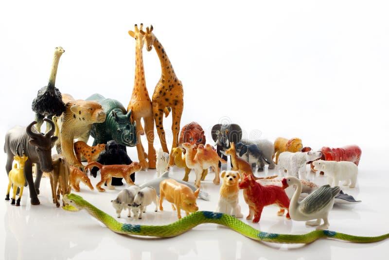 Plastic animals toys. Plastic animals Children's toys stock image