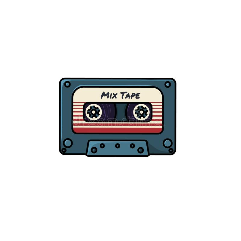 Plastic audio compacte cassetteband - Webpictogram vector illustratie