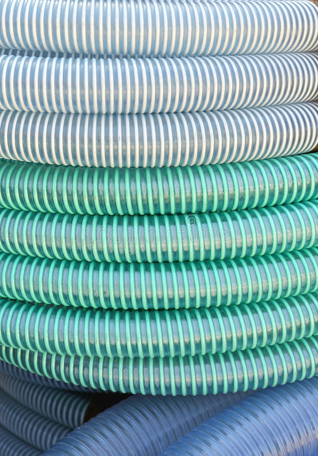 plastic böjliga rør arkivfoton