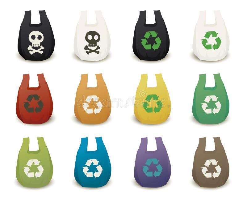 Plastic bag royalty free illustration