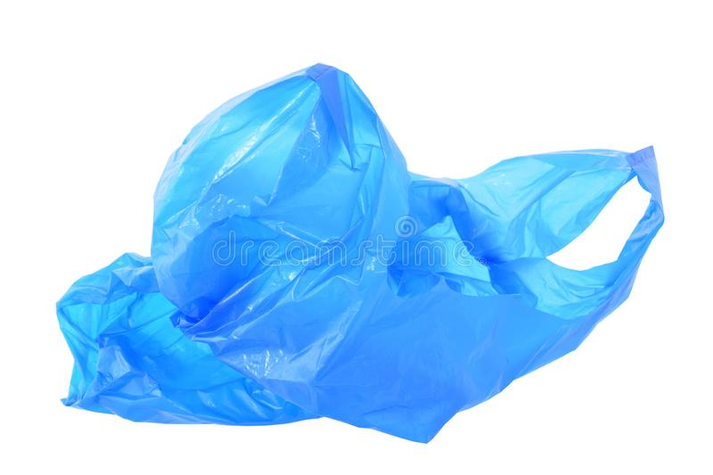 Plastic garbage bag closed up isolated on white royalty free stock images