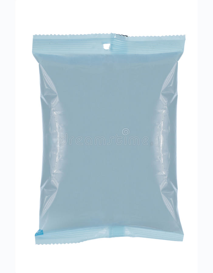 Plastic bag snack package. Ready for new design royalty free stock images