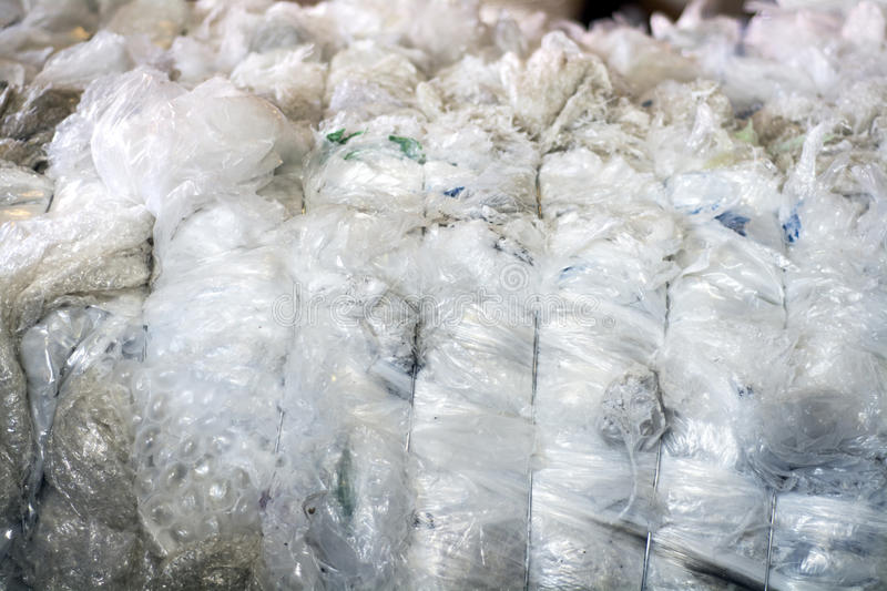 Plastic baled and ready to recycle. Textures and plastic baled and wired getting ready to recycle royalty free stock images
