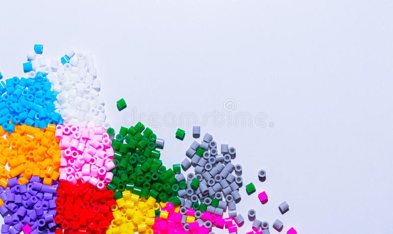 Plastic beads royalty free stock photography