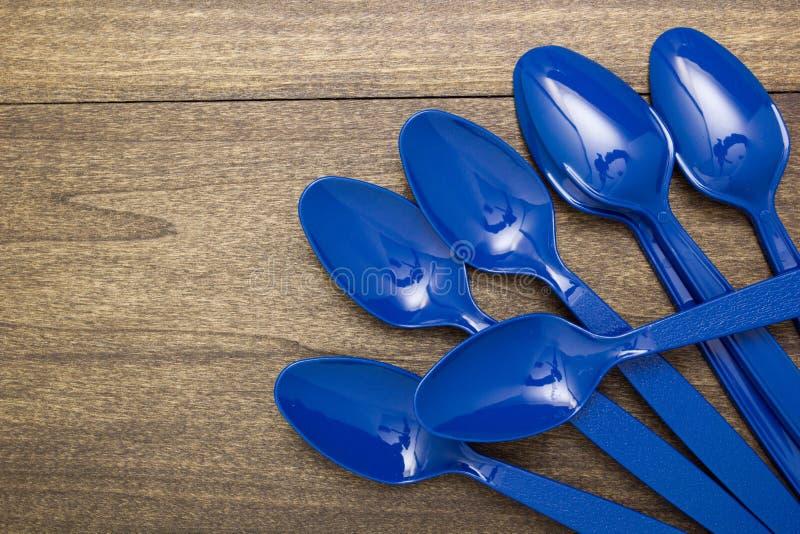 Plastic beschikbare lepel royalty-vrije stock fotografie