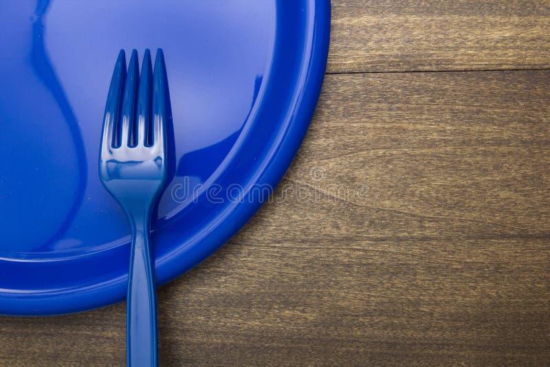 Plastic beschikbare vork royalty-vrije stock afbeelding