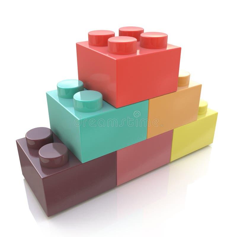Plastic Blocks stock photography