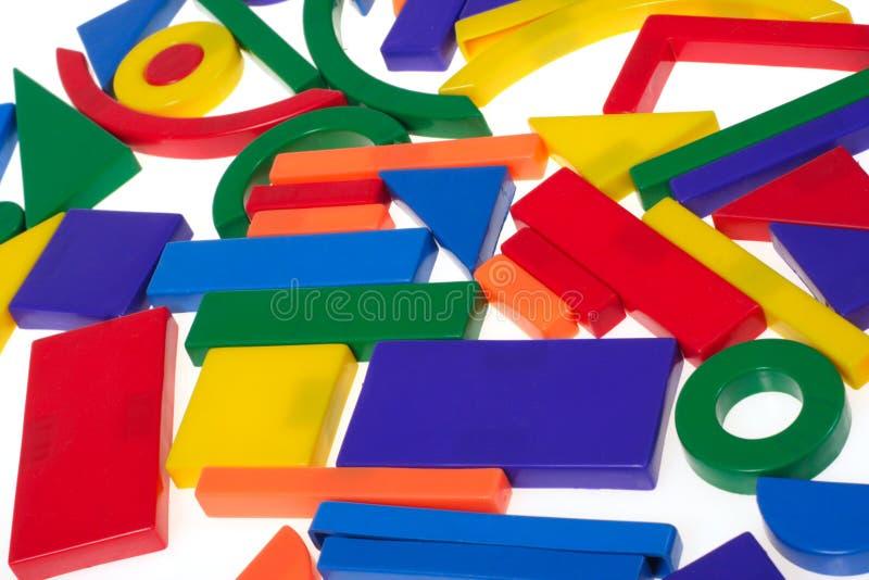 Plastic Blokken royalty-vrije stock foto's