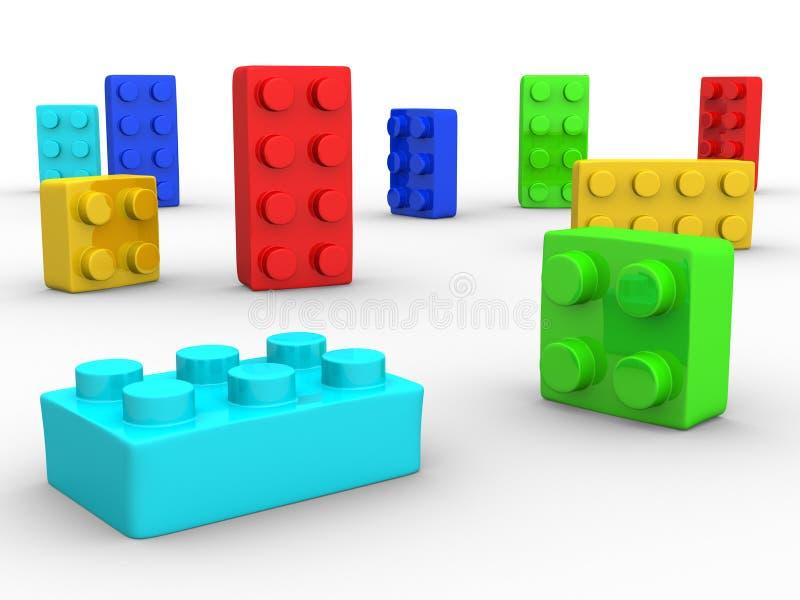 Plastic blokken stock illustratie