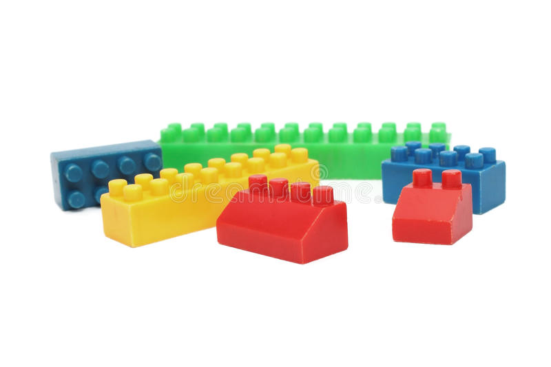 Plastic blokken royalty-vrije stock afbeelding