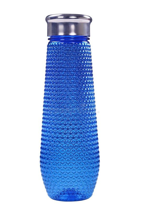 Plastic blue bottle royalty free stock photos